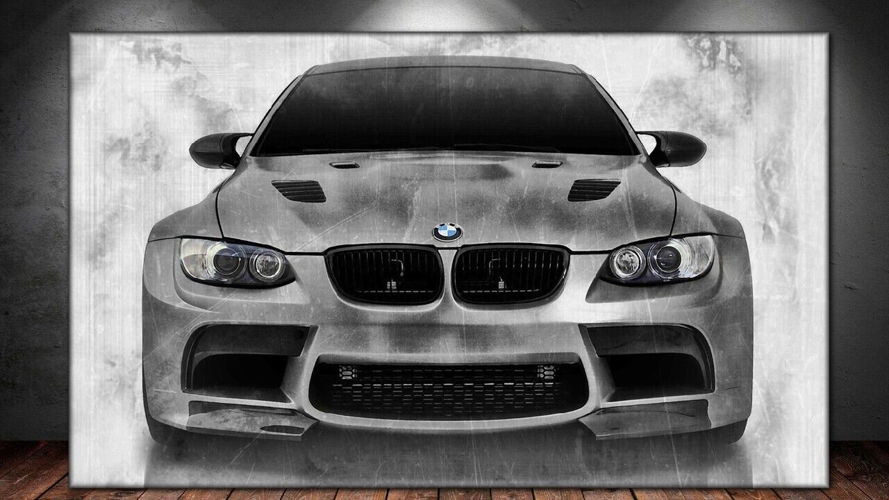 LEINWAND BILD ER XXL POP ART BMW M3 COUPÉ ABSTRAKT DEKO AUTO WAND POSTER