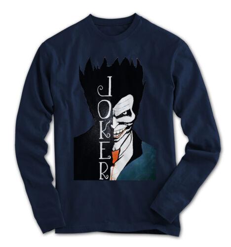 Herren Longsleeve Joker Comics Batman Film Movie Neu S-3XL HK1115LS