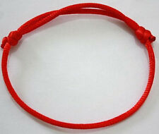 2 Red String Kabbalah Lucky Bracelets Against Evil Eye for Success