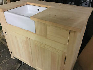 Solid Pine Belfast Sink Kitchen Unit INCLUDES SINK EBay