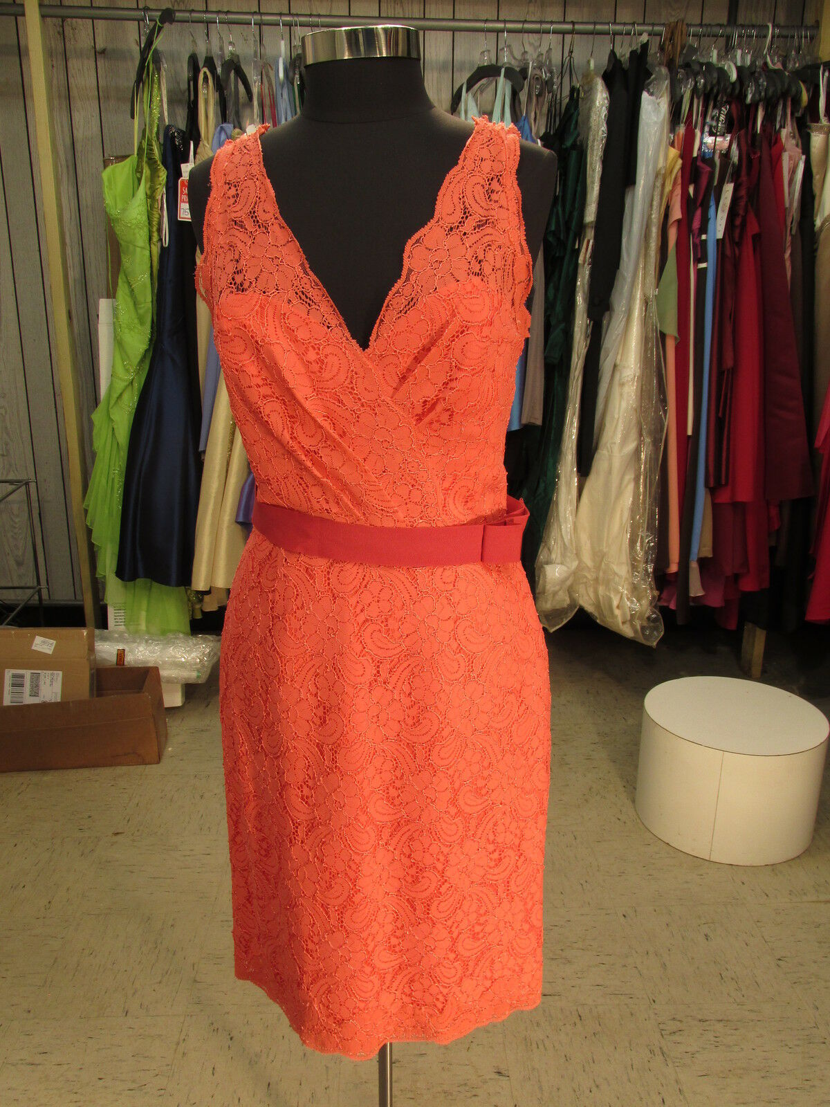 Watters and Watters 3217 bridesmaid special occasion dress  size 12  coral (w37)