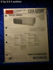 Sony Service Manual CDX 525RF CD Changer (#4214)