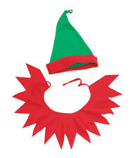 #SANTA'S ELF LITTLE HELPER HAT & COLLAR CHRISTMAS TRADITIONAL FANCY DRESS OUTFIT
