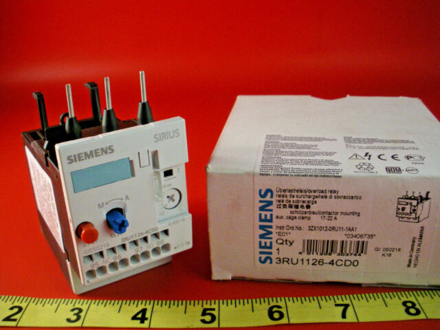 SIEMENS  3RU1126-4CD0 OVERLOAD RELAY NEW IN BOX