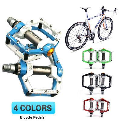 2x MTB Road Mountain Bike Pedal Flat Platform Aluminum Alloy Sealed Bearing 9//16