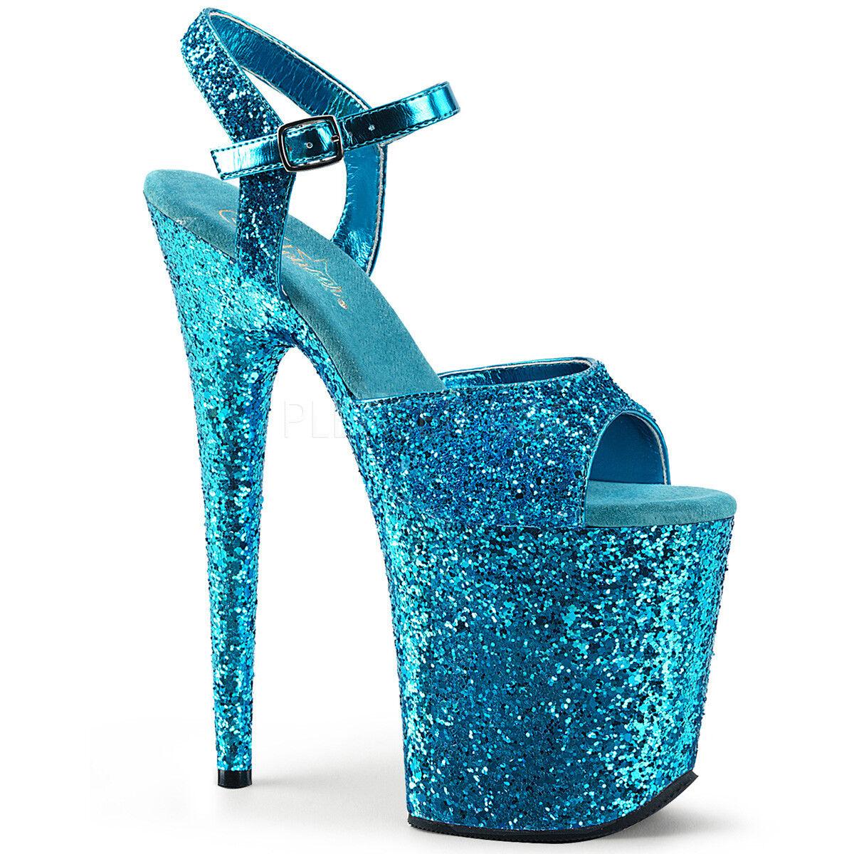 Pleaser FLAMINGO-810LG Exotic Dancing shoes 8  Heel Heel Heel Ankle Strap Platform Sandal. ae3763