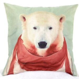 Home-Decor-Office-Cotton-Linen-Dog-Man-Red-Cushion-Cover-LauR-Pillow-Sofa-45cm