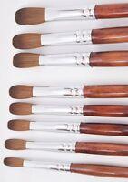 Ex Kolinsky Acrylic Nail Brush For Manicure Powder (crimped) - Choose Your Size