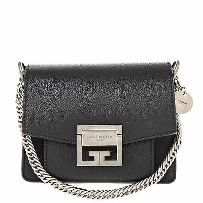 Givenchy Women's Small GV3 Bag in grained Leather Black