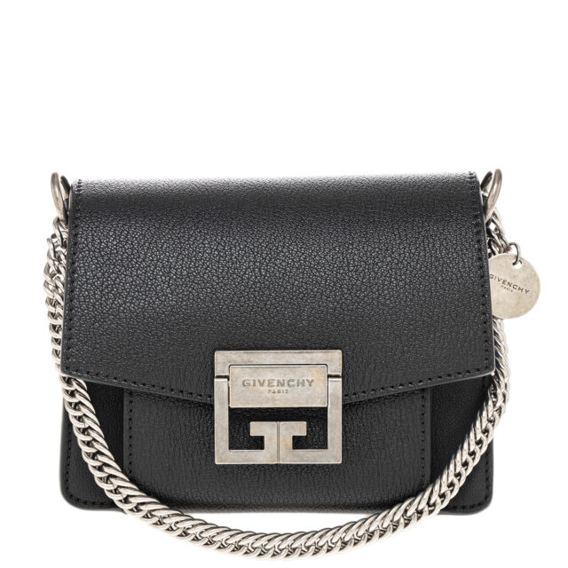Givenchy Women s Mini Gv3 Bag in Grained Leather Black for sale ... eee02fa82c59e