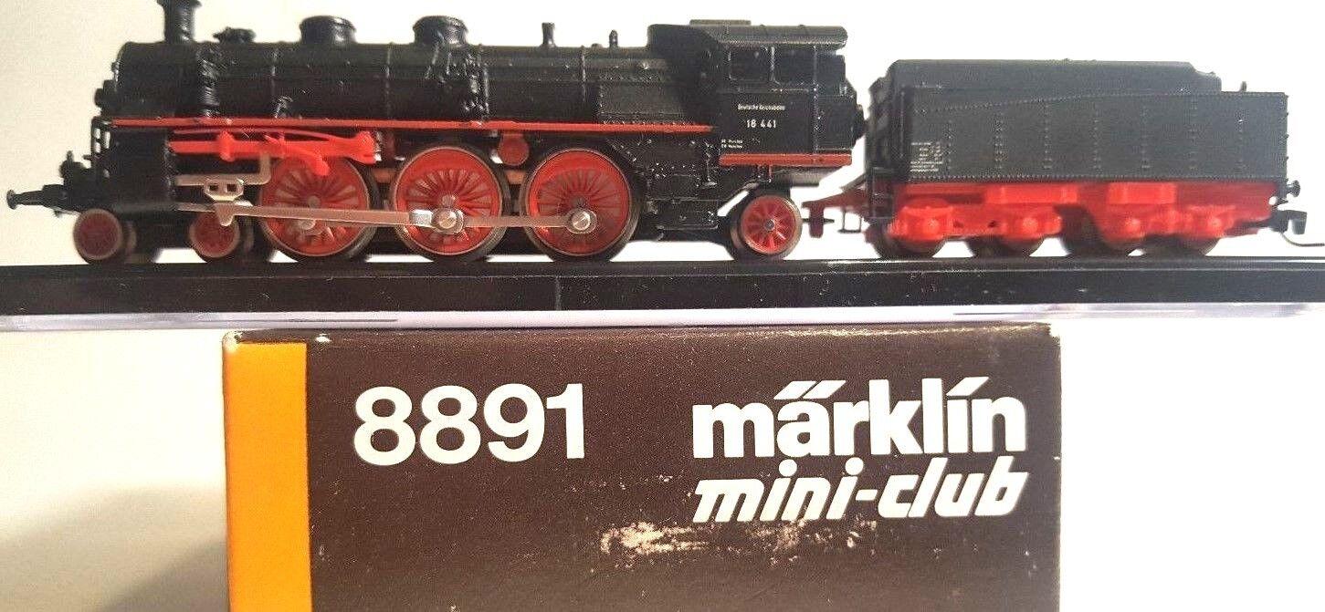 Marklin Z 8891 4-6-2 Vapor Loco Nº Dragonball BR18 411 con tender (probados)