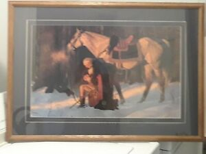 The-Prayer-At-Valley-Forge-by-Arnold-Friberg-Print-Framed-31x22-Beautiful