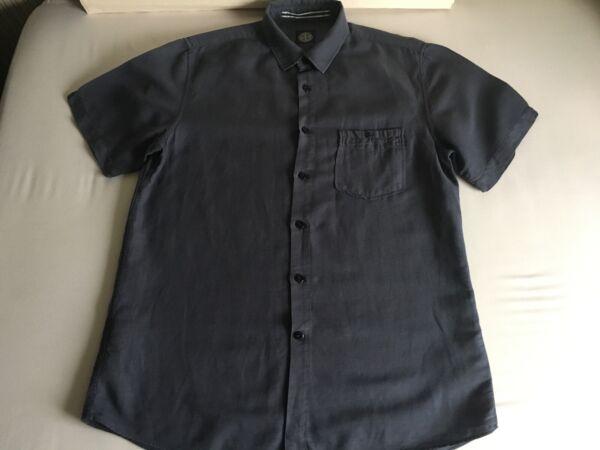 100% Vero Stone Island Camicia Manica Corta-taglia Xl-usato Solo 4 Volte-vintage Vendita Calda 50-70% Di Sconto
