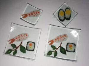 Sushi Rolls Dishes Fused Gl
