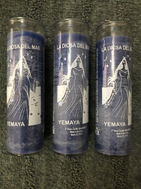 11 Veladoras Religious CANDLES GLASS 5-7DAY UNSCENTED vela espirituales Santeria