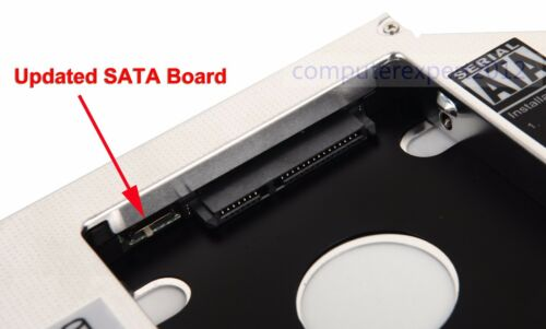 2nd HDD SSD Caddy for HP COMPAQ CQ70 CQ71 CQ60 CQ61 CQ57 CQ58 SN-208DB AD-7581S