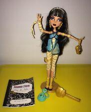 Monster High Cleo de Nile Wave 1 Complete Doll w Hissette Snake Pet
