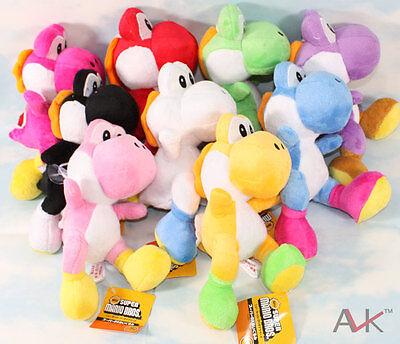"9pcs/lot Super mario bros running yoshi 8"" soft Stuffed plush toy figure Doll"