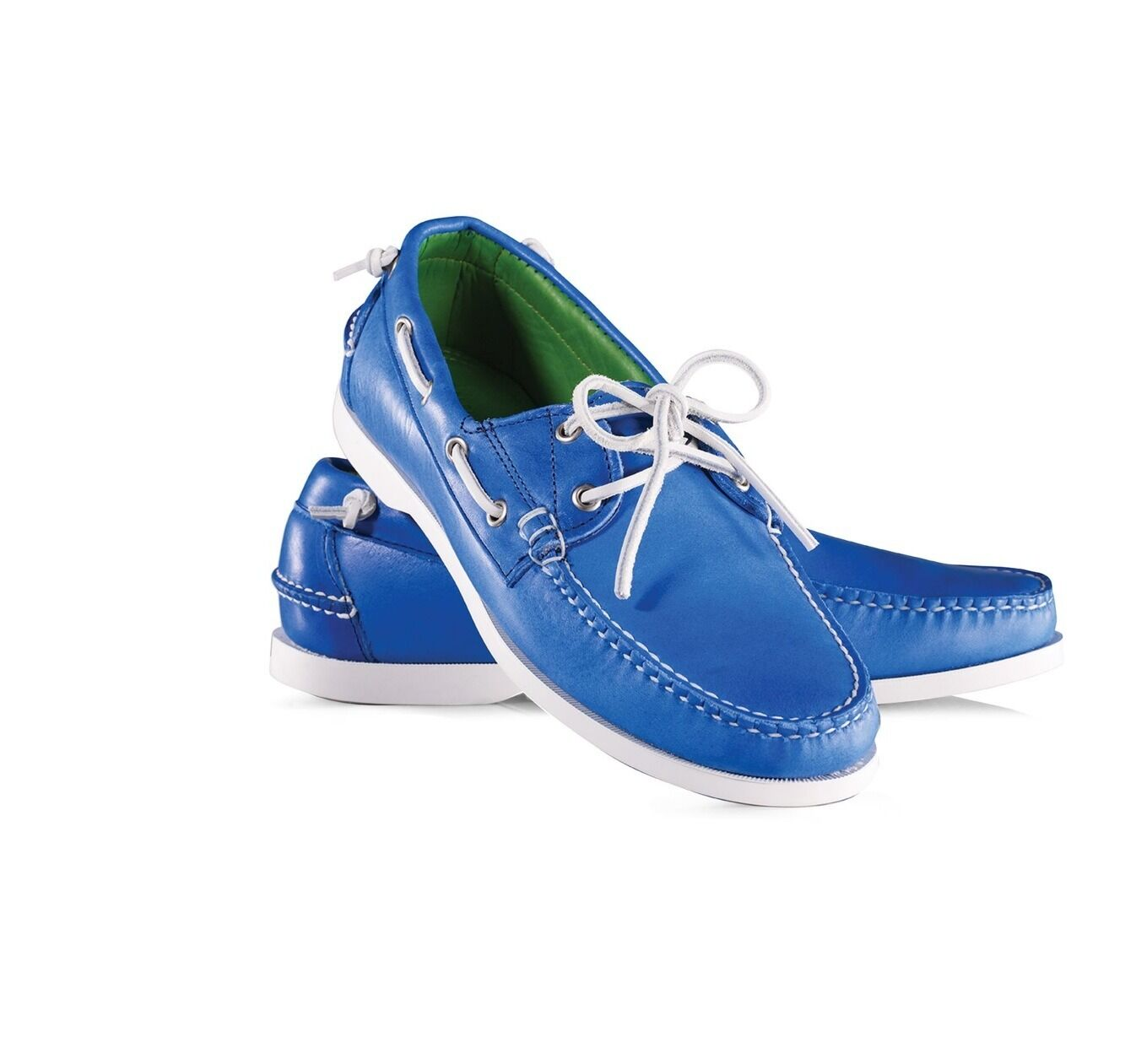 NIB Ralph Lauren Telford II Leather Boat shoes Made in USA Size 11D