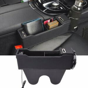 Black Car Front Passenger Seat Organizer Catch Pocket Box Cup