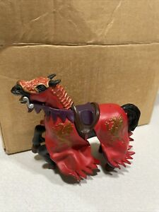 2006 PAPO Schleich Black & Red Dragon Head Medieval Knight Horse Action Figure