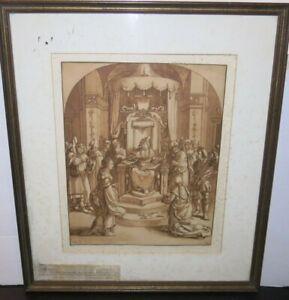 Original Cornelis Ploos Van Amstel (1726-1798) Engraving 1821 Lucas Van Leyden