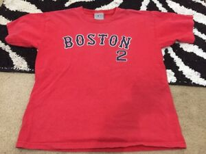 buy popular dfe9d 326fb Details about Jacoby Ellsbury #2 MLB Genuine Red Sox Jersey T-shirt. Youth  Large L.