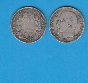 Gertbrolen-Second-Empire-1-Franc-Argent-Napoleon-III-tete-nue-1858-Paris