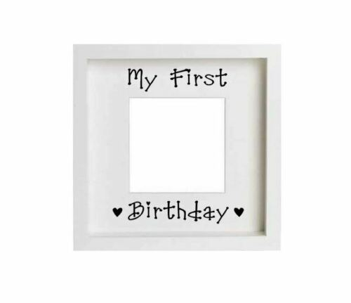 My First Birthday Vinyl Decal Box Frame Child Toddler Home Gift Crafts Girl