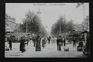 Tarjeta-Postal-Antigua-CPA-Animada-Toulouse-Los-Paseos-Lafayette