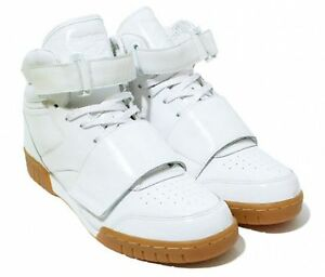 NEW REEBOK MENS SHOES EX-O-FIT HI S.G. STRAP WHITE GUM SNEAKERS SIZE ... b3c947be03b95