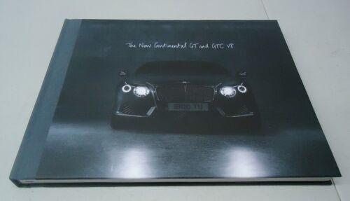 BENTLEY THE NEW CONTINENTAL GT AND GTC V8 HARDBACK DEALER BROCHURE BOOK