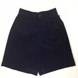 NEW Princeton Club Women's Corduroy Casual Blue Shorts Side Pockets Size 6 NWT