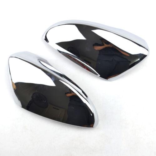 For VW Passat B7 EU 2010-2015 Pair Chrome Door Side Mirror Covers Trim Garnish