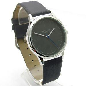 Reflex-Smart-Men-039-s-Gents-039-Watch-Quartz-Grey-Dial-and-Band-Chrome-Case-REF0012