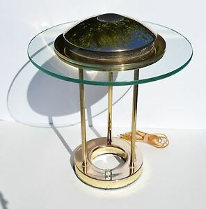 Beautiful Modern Mid Century Flying Saucer Shape Brass And Glass