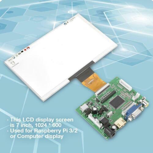"""7/"""" 1024*600 Pantalla LCD Módulo HDMI VGA Monitor Pantalla Kit para Raspberry Pi 3//2"""