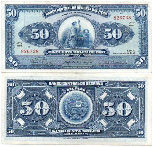 50 Soles 1965 XF Lemberg-Zp Peru