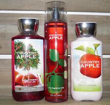 Bath & Body Works Country Apple Shower Gel Mist Body Lotion New 3pc NEW