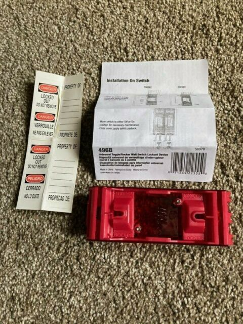 Master Lock 496B Wall Switch Cover Safety Lockout Mlk496b for sale online