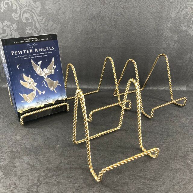 1 Of 4 Vintage Brass Easel Book Plate Display Stand Photo Picture Holder MCM