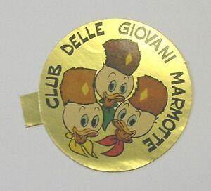 Vecchio adesivo old sticker disney qui quo qua club giovani