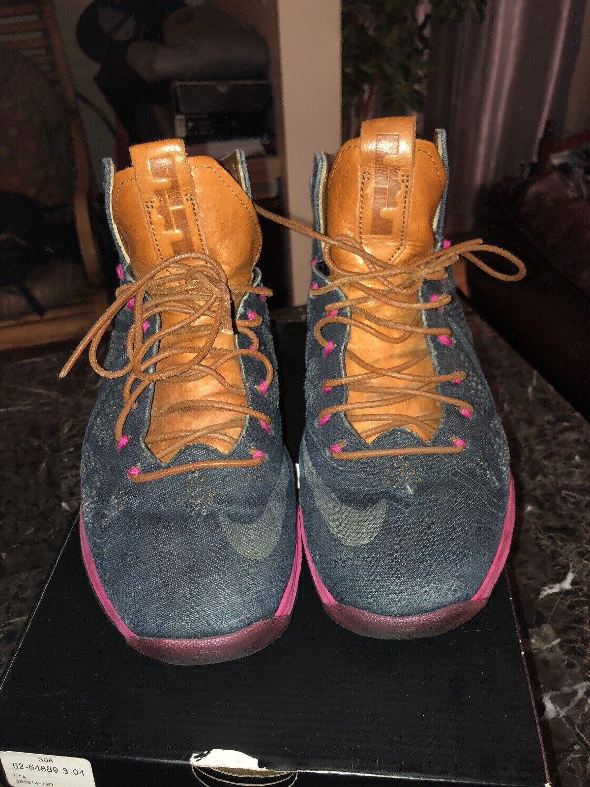 VNDS Nike Lebron James X EXT Denim QS size 8 NBA Great authentic OG rare 100