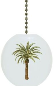 Details about Palm Tree Tropical Solid CERAMIC Ceiling Fan Light Lamp ...