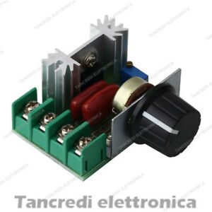 Dimmer 220v 2000w con triac regolatore di velocit motori for Lampade led 220v