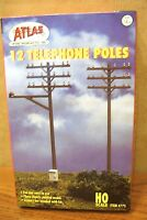 Atlas Model Railroad Ho Scale 12 Telephone Poles