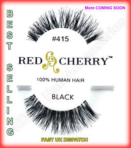 Red-Cherry-100-HUMAN-HAIR-False-Lashes-THE-BEST-Natural-Looking-Styles