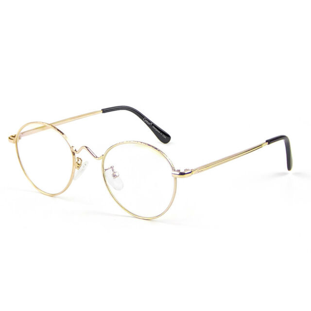 488f1c85ebfb Cyxus Metal Retro Round Gold Blue Light Blocking Glasses for Computer phone  Use for sale online