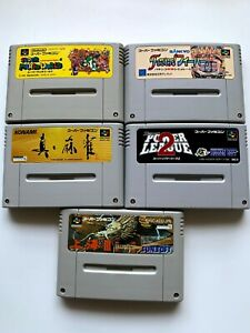 Lot5-Nintendo-SuperFamicom-Japan-Import-Used-Game-SET-SuperMarioBros-Fever-SFC