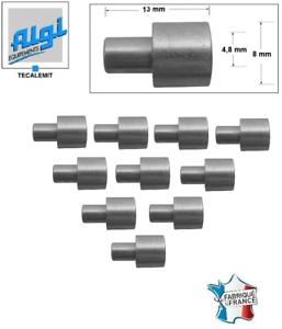 Int 4.8 Lg Lot de 10 Butées de Gaine Cyclo AGLI 00413000 Diam Ext 8 13 mm
